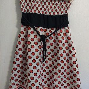 Dresses - 2/$10🌼 red polka dot strapless dress